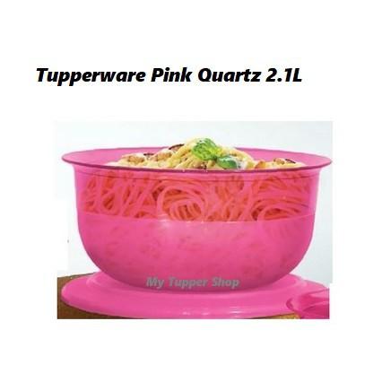 Tupperware Pink Quartz Serving Bowl 2.1L (1)