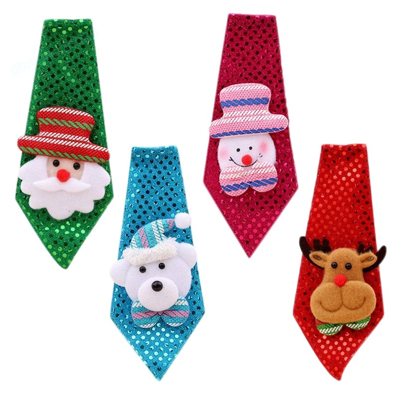2964a28c62c4 4PCS Child Adults Tie, Christmas Tie Christmas Cute Tie Santa With  Christmadults   Shopee Malaysia