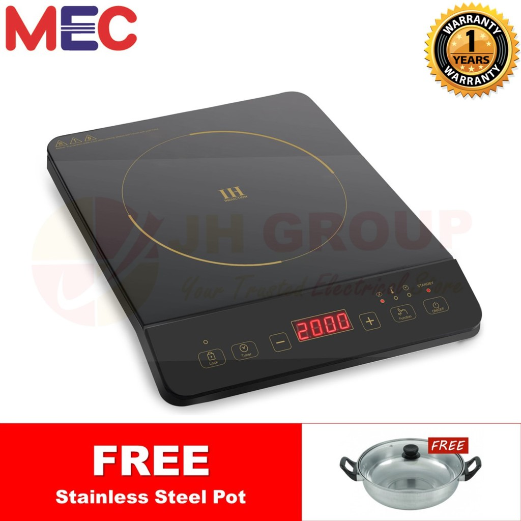 MEC MID 3200 MID3200 2000W INDUCTION COOKER with FREE POT