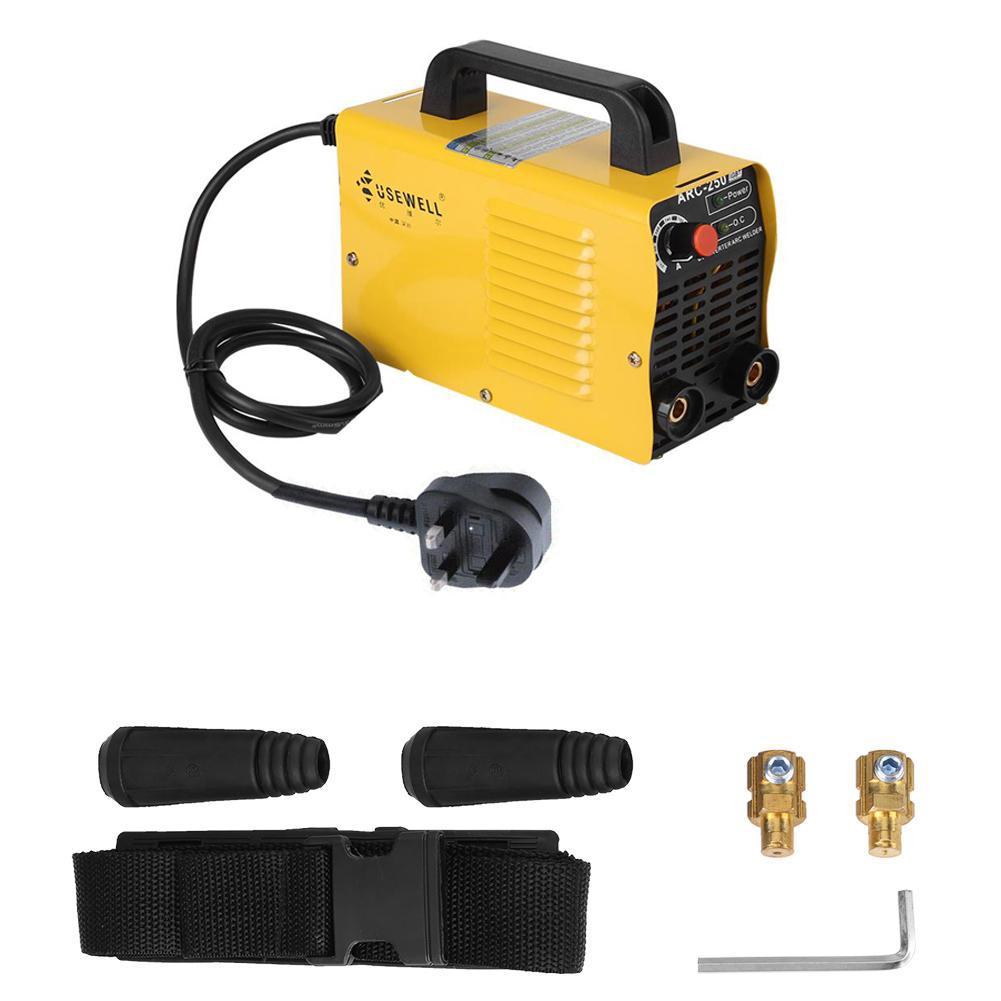 USEWELL ARC-250 160A 110V 2P Welder Inverter Cutter ARC Welding Machine Yellow