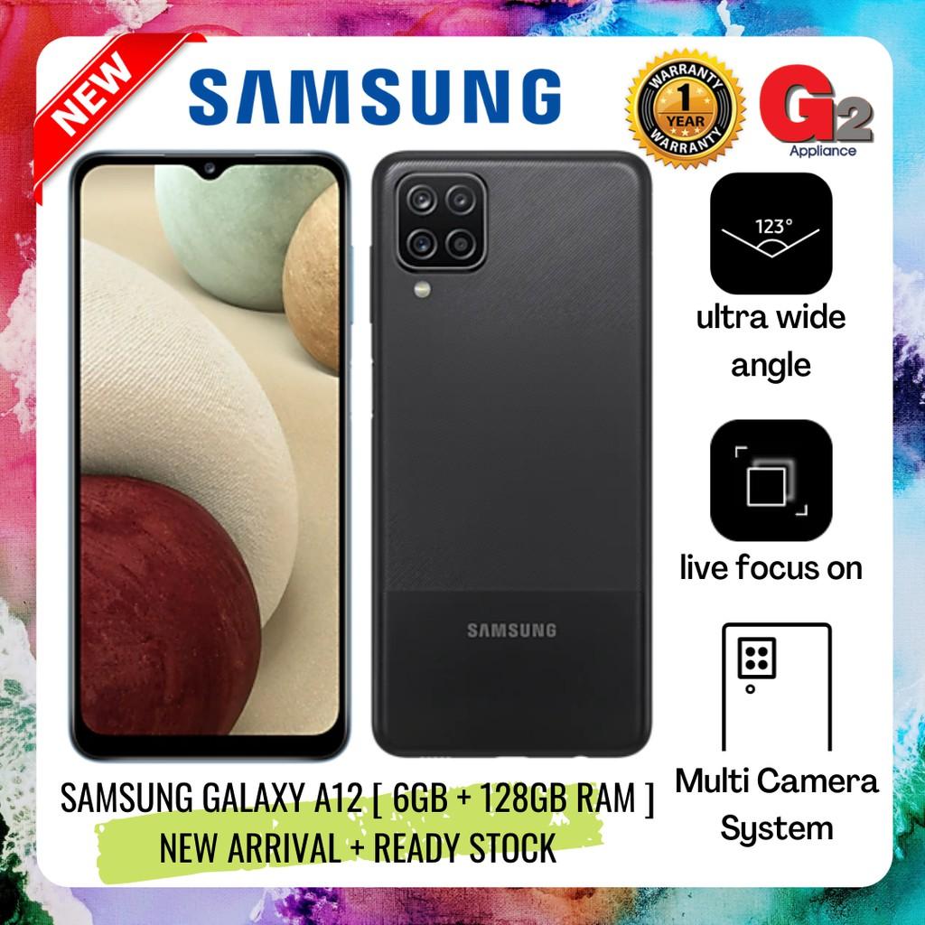 SAMSUNG GALAXY A12 [ 6GB + 128GB RAM ] NEW ARRIVAL + READY STOCK