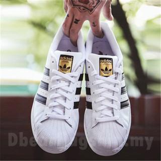 QD?free shipping?original Adidas Superstar sport shoes clover white shoes running