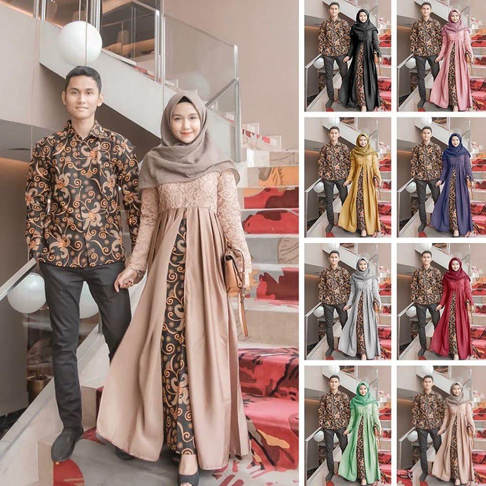 BEST SELLER (ORI & BUSUI_9 VARIAN COLORS) Batik Couple Princes Hayunda  Sarwendah Gamis modern kebaya