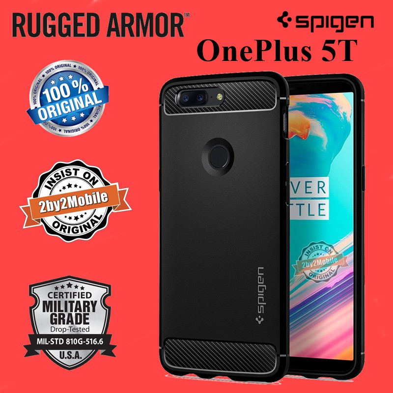the best attitude d5ea6 dd728 Original Spigen Rugged Armor OnePlus 5T One Plus 5T case cover