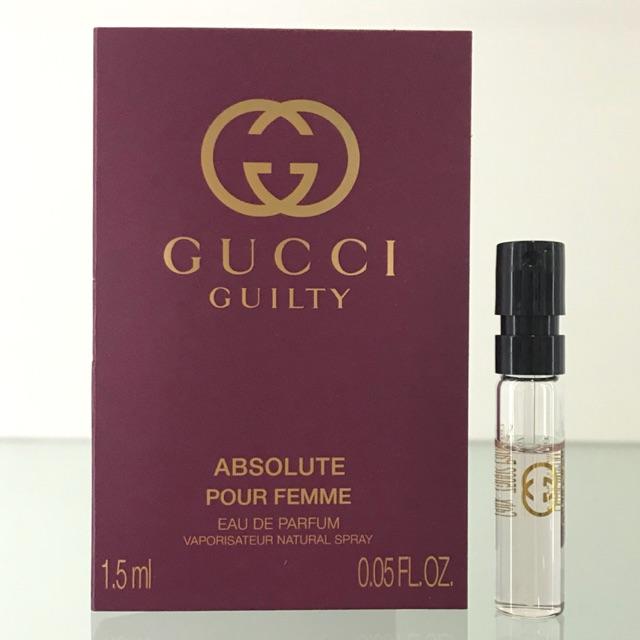 9baa81d2d12 GUCCI GUILTY ABSOLUTE POUR FEMME EDP 1.5ml ORIGINAL PERFUME VIAL FOR WOMEN