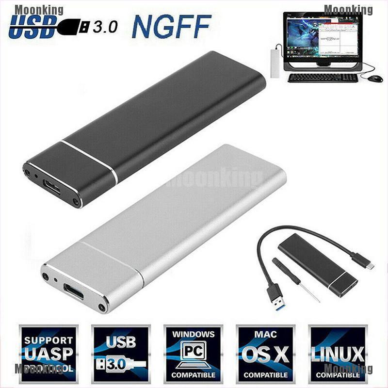 Moonking M.2 NGFF SSD Hard Disk Drive Case USB 3.0 HDD Enclosure Box