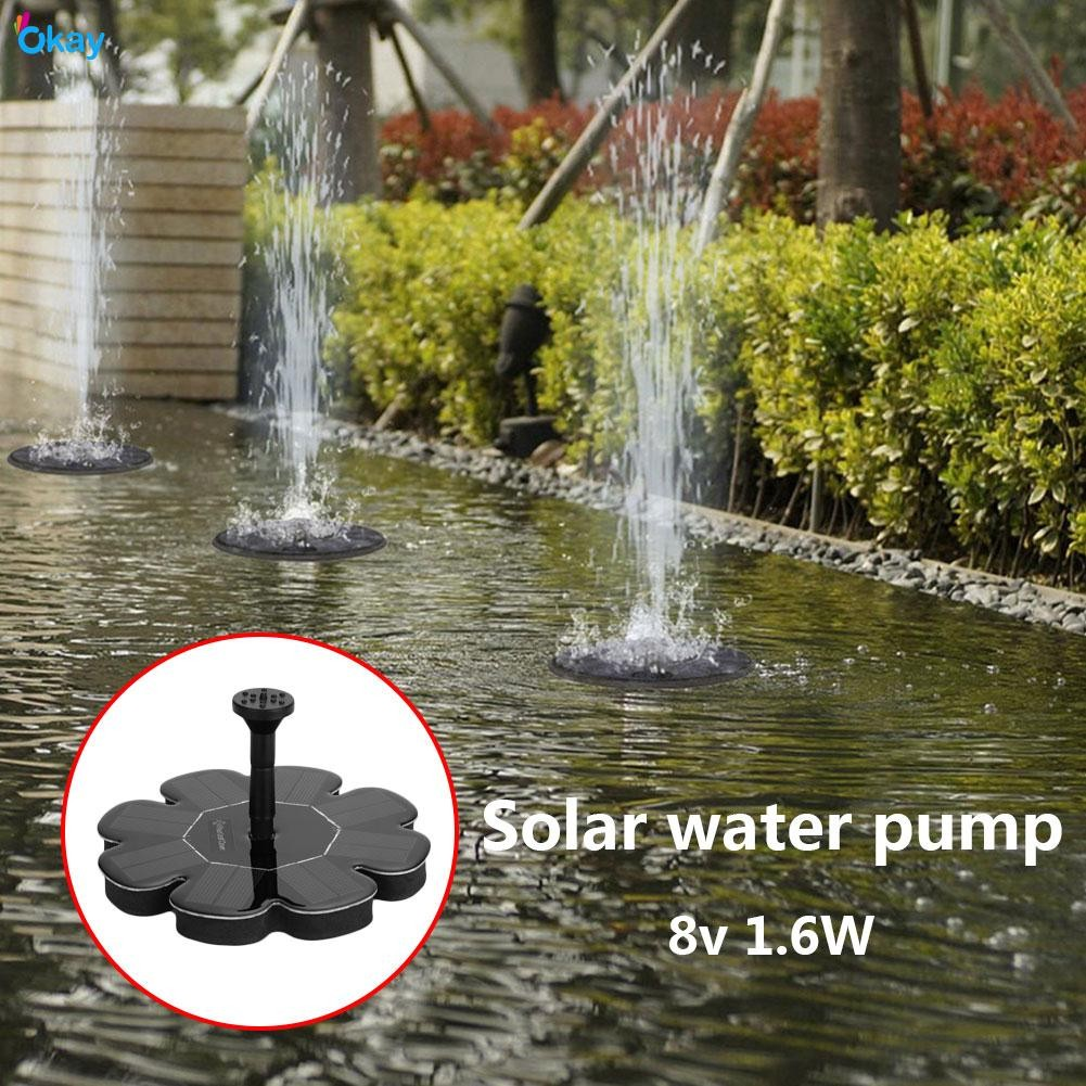 Cloverclover Solar DC Charging Oxygenator Water Oxygen Pump Pond Aerator Aquarium Airpump