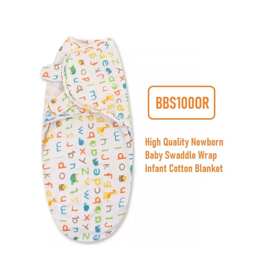 [ READY STOCK ]  High Quality Newborn Baby Swaddle Wrap Infant Cotton Blanket Cute Toddler Sleeping Bag Julan Murah Kid