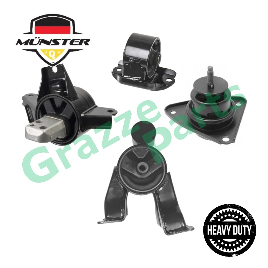 "Münster ""Heavy Duty"" KIA3304 Engine Mounting Set for Kia Forte 1.6 Auto"