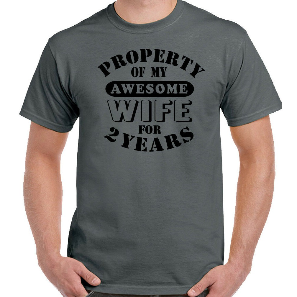 My Awesome Wife Mens Funny 2nd Wedding Anniversary Hoodie Gift 2 Year Husband