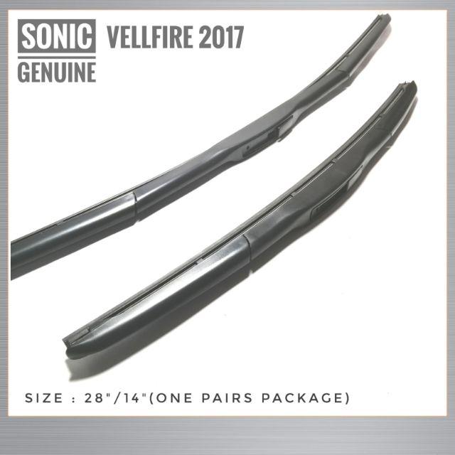 "Vellfire 2017 Windscreen Wiper Wiper Blades OEM Genuine Sonic Genuine Parts One Pairs 28""/14"""