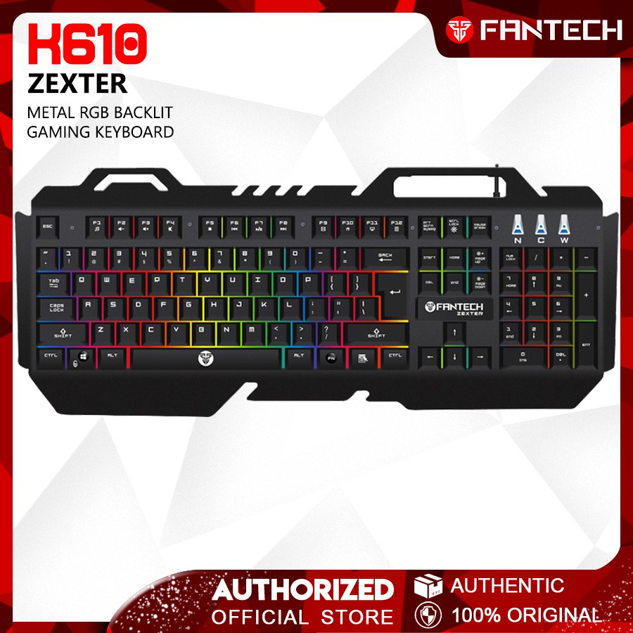 65c32287ee4 FANTECH SOLDIER K612 RGB BACKLIGHT FULL SIZE DURABLE MEMBRANE GAMING  KEYBOARD | Shopee Malaysia