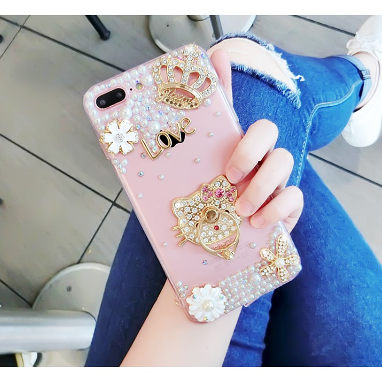 48bd6324d8c Bling Crystal Fluffy Rabbit Fur Case Winter Soft Crystal Case for  Iphone oppo