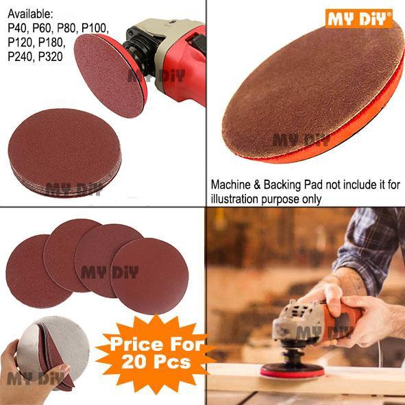 "P60 GRIT FOR MINI DA SANDER PACK OF 50 3/"" 75mm HOOK AND LOOP SANDING PADS"