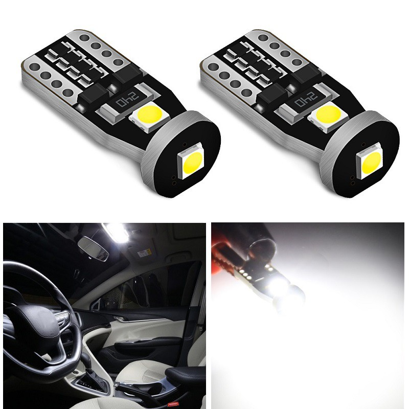 10pcs High Quality T10 168 2825 W5W 194 LED Bulb 2W 3030 3SMD Interior Car Light