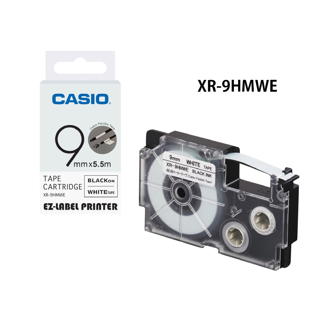 CASIO XR-6WE1 EZ-Label Printer Tape Cartridge 6mm White | Shopee Malaysia