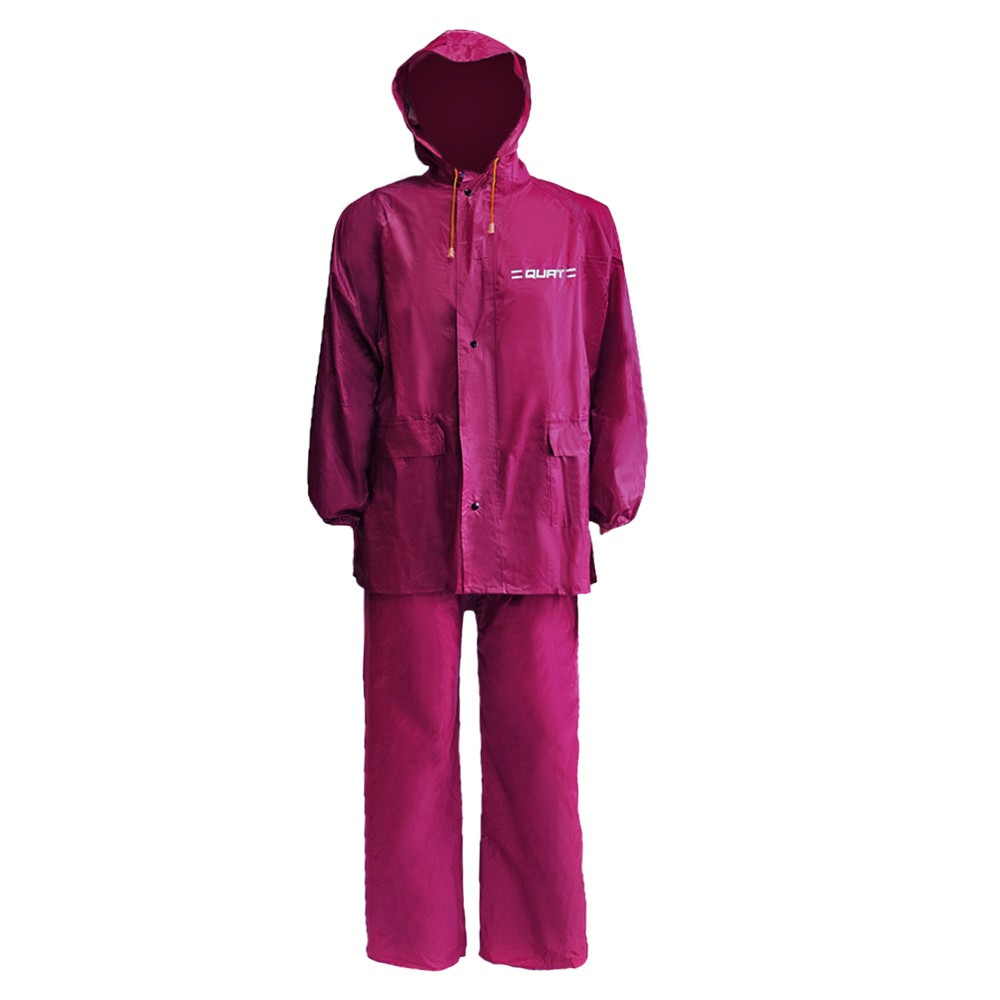 Raincoat QUAT Basic Range Q51 Free Size Baju Hujan Motorcycle (RED)