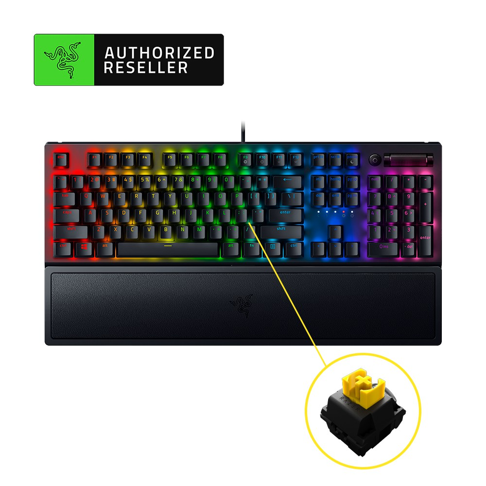 Razer BlackWidow V3 Pro Wireless Full-Height Mechanical Gaming Keyboard with Razer Chroma RGB