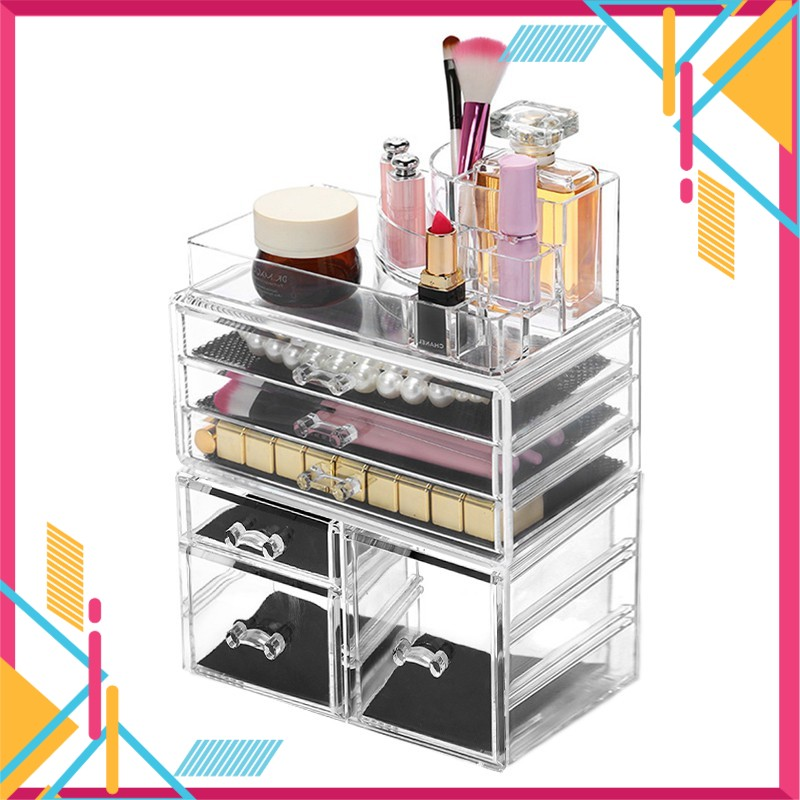 Ready Stock~ Layers 6 Drawers Acrylic Cosmetic Makeup Organizer