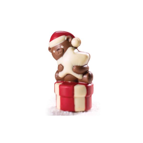 MARTELLATO, Chocolate Mould, Teddy Bear With Star