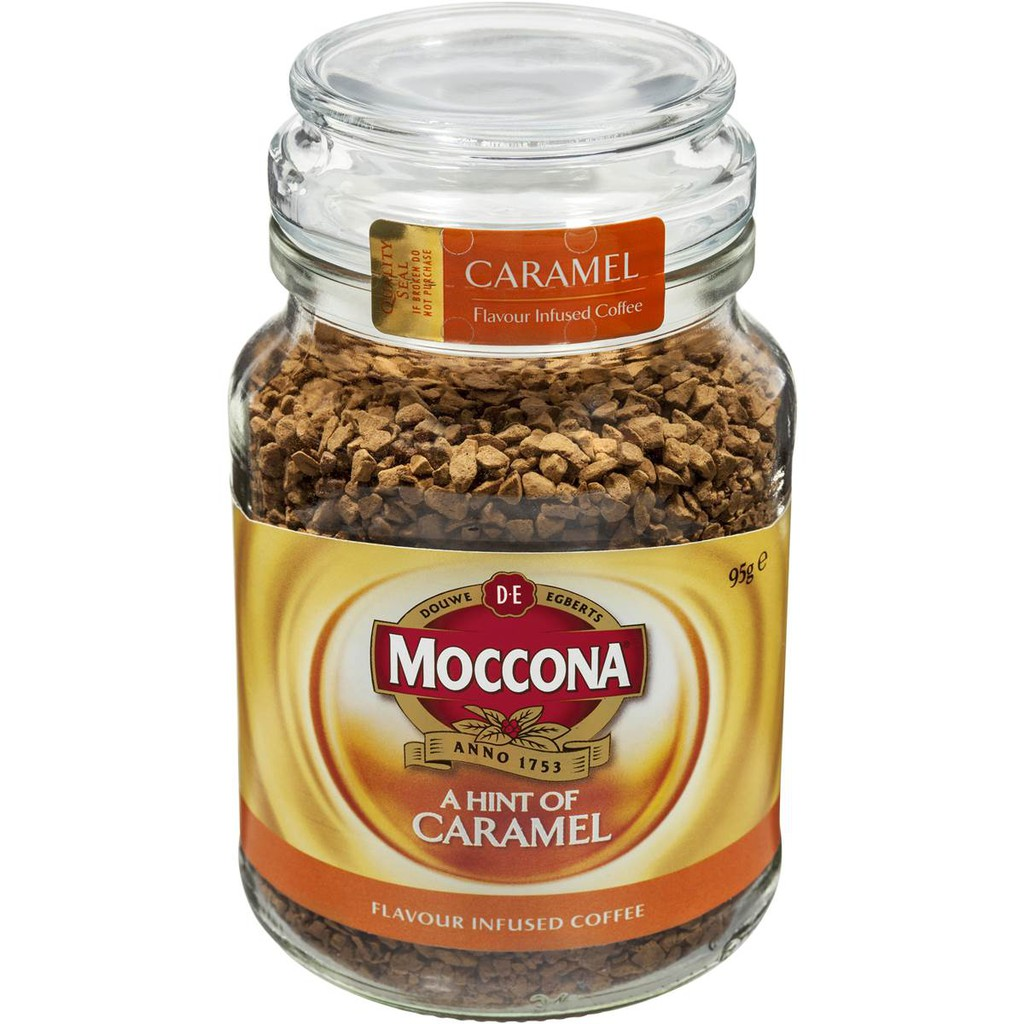 Moccona Flavor Infused Carament Instant Coffee 95g 3 Jars