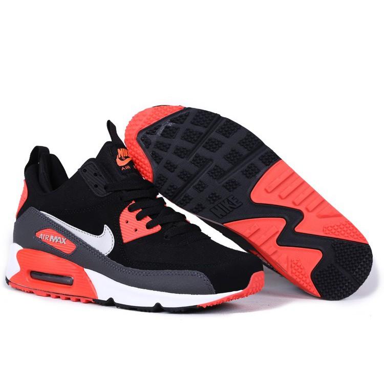 buy popular 2b8b9 02591 Mens Nike Air Max 90 Sneakerboot Winter Running Shoes Black Red   Shopee  Malaysia