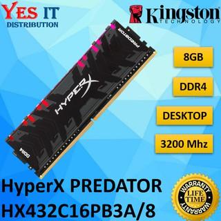 HYPERX PREDATOR RGB 8GB DDR4 3200MHz GAMING CL16 288-Pin