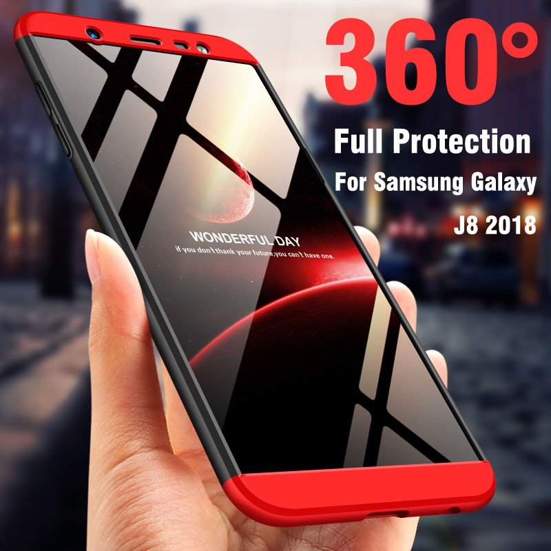 360 Full Protection Shockproof Case For Samsung Galaxy J8