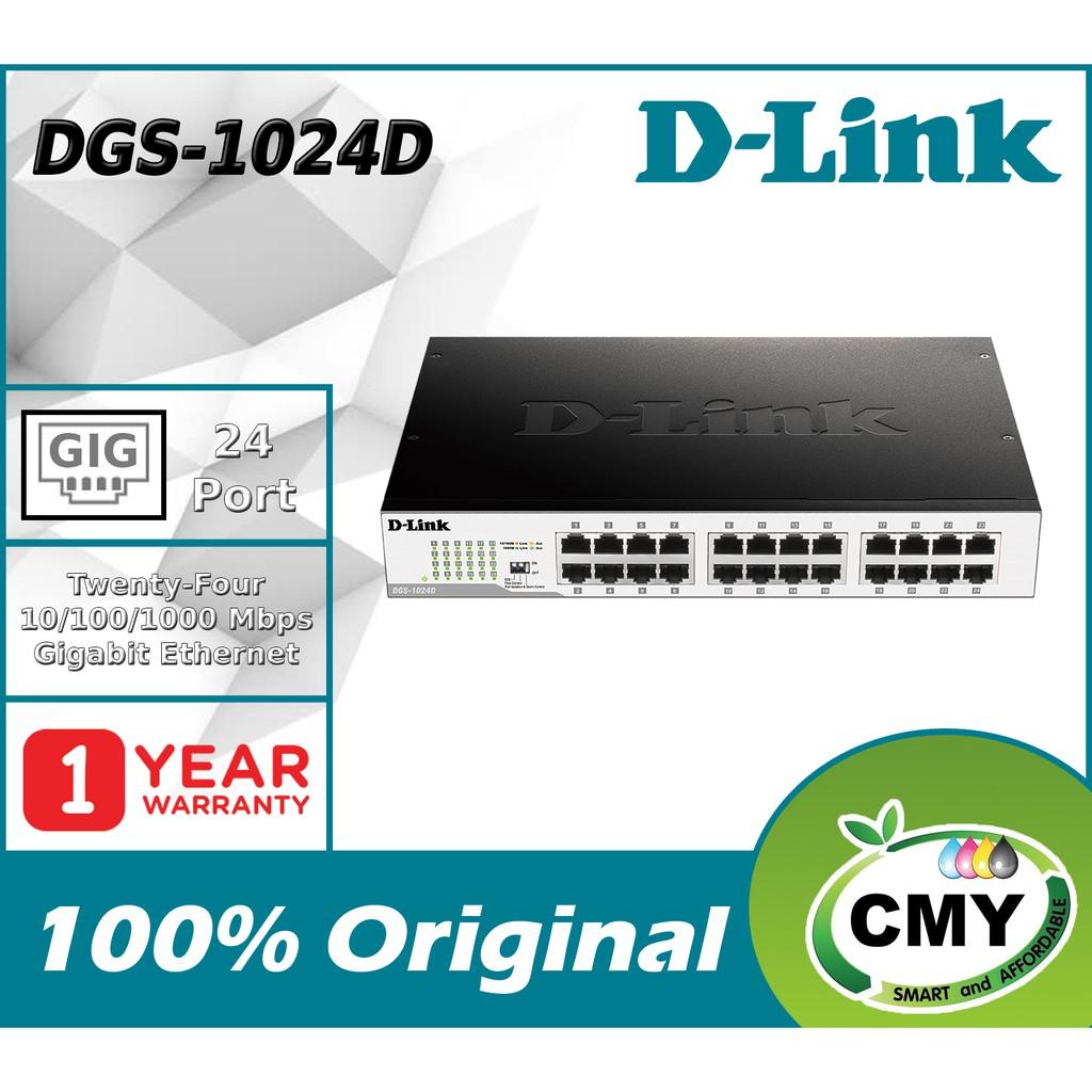 D-LINK 24 Port Gigabit Metal Desktop Switch DGS-1024D similar with DGS-1016D DGS-1008A