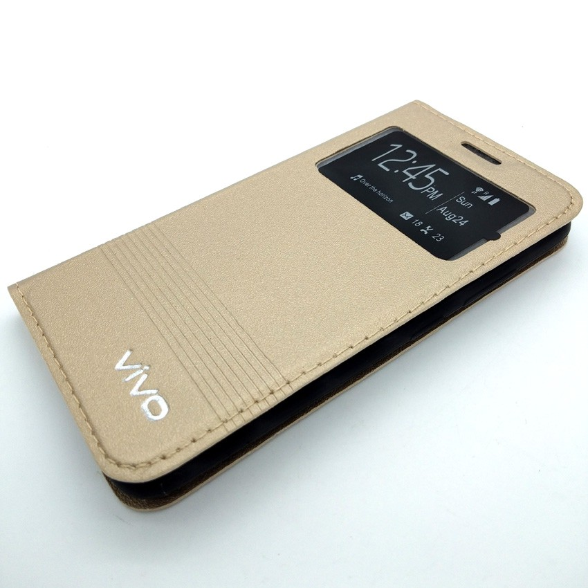 online store b44e3 3e6df Vivo Y53/Y53c/Vivo 1606 Leather Flip Cover Case (W6-6-2)