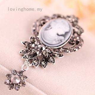 b0729b2a8 1PC Fashion Antique Gold Silver Vintage Brooch Pins Jewelry Queen Cameo Brooches  Rhinestone Christmas Gift | Shopee Malaysia