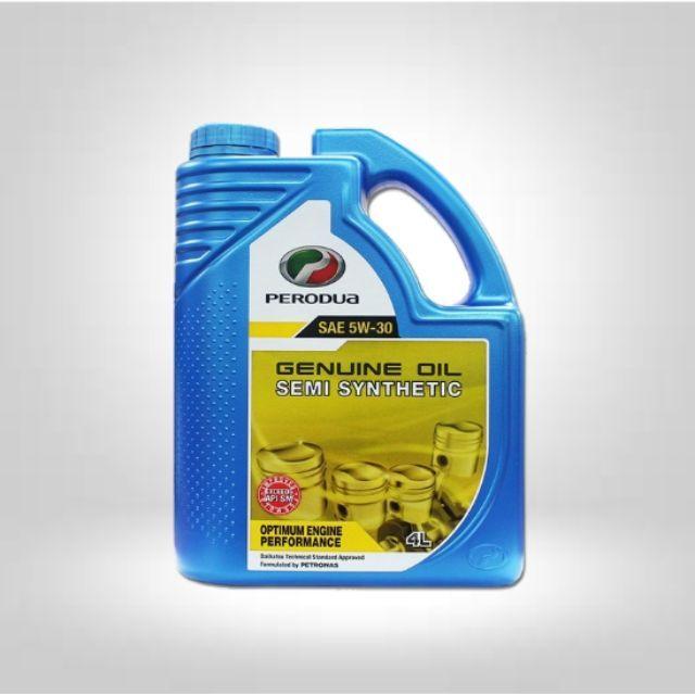 Perodua Semi Synthetic Engine Oil SAE 5W-30 4L
