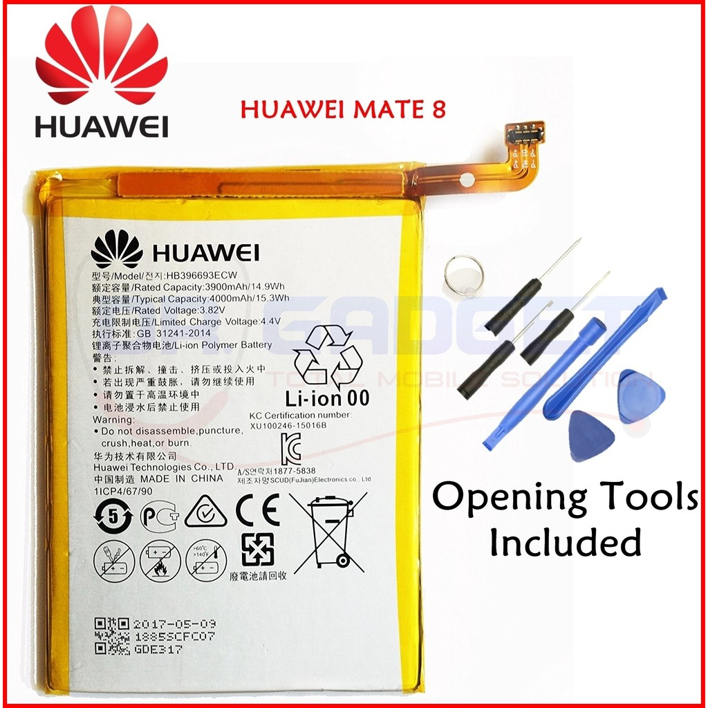 NGS) 100% ORIGINAL Huawei Mate 8 Battery 4000mAh With 8pcs