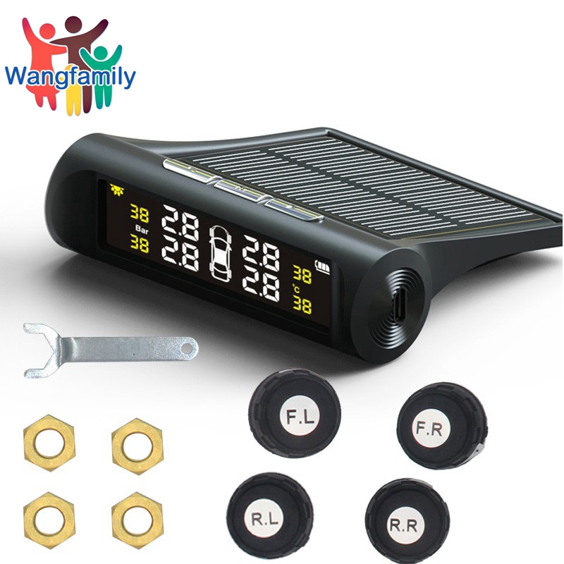 Smart Car TPMS Tyre Pressure Monitoring System Solar Power Charging