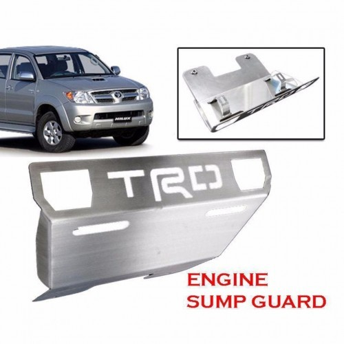 sportivo front engine base plate skid sump guard to toyota hilux sr5 trd  2005up | shopee malaysia
