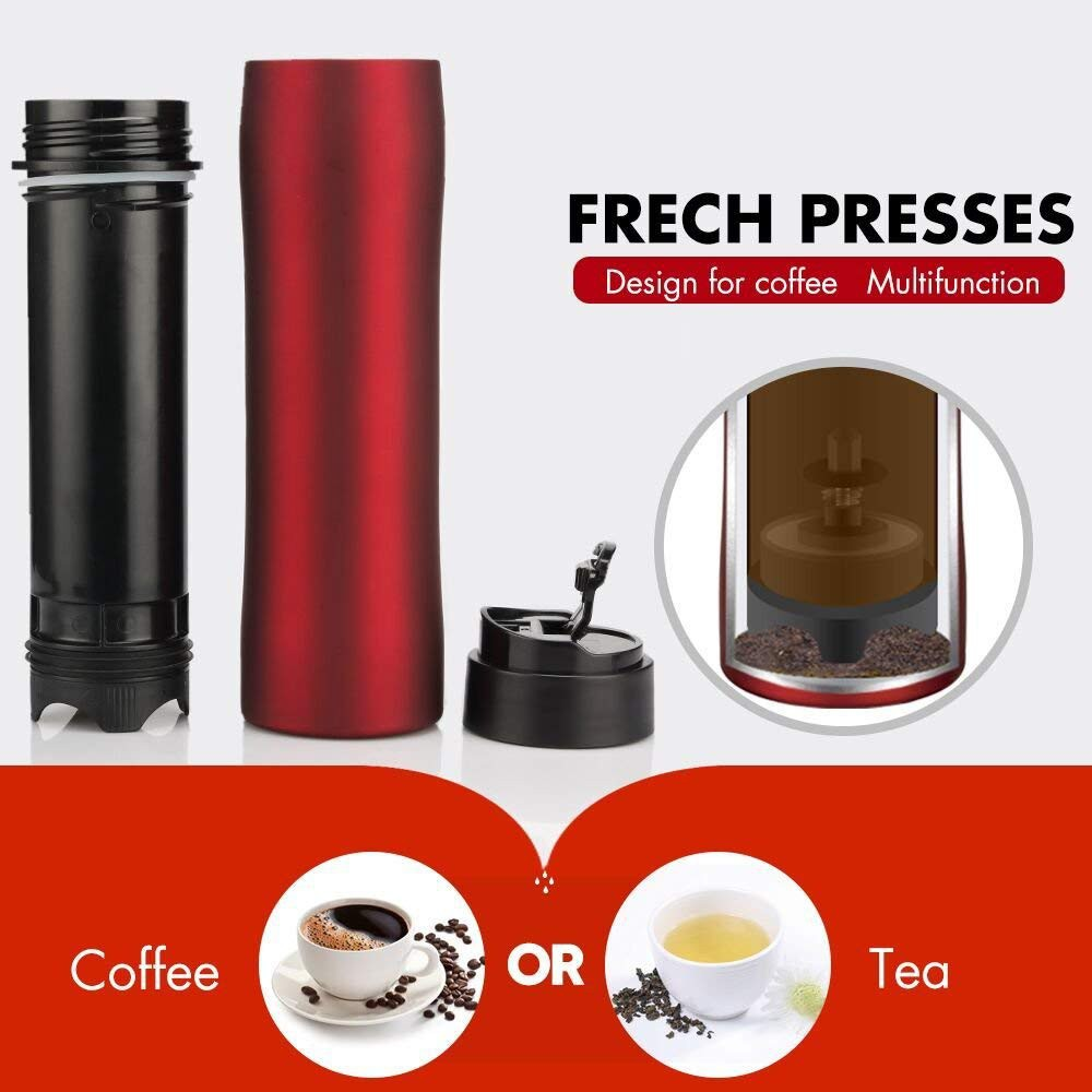 3a42ada9888 Coffee Maker French Press Portable Coffee Plunger Maker Travel Filter Mug  Cup