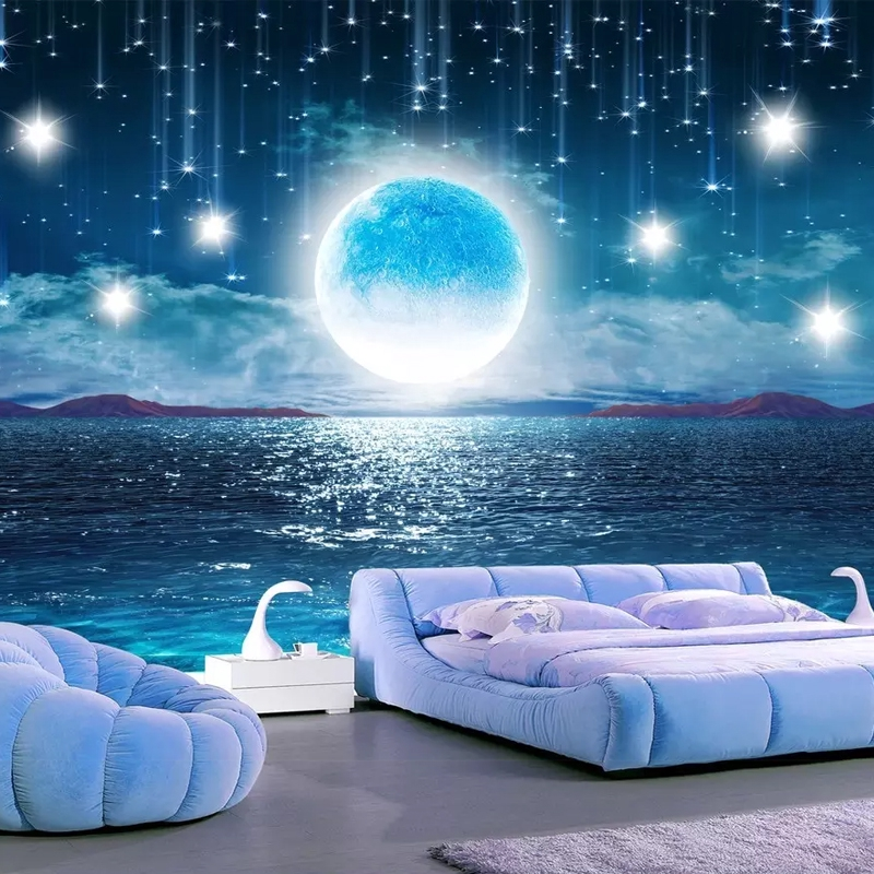 Star 3d Seamless Background Wall Paper Ceiling Theme Mural Ktv Hotel Nightlight Galaxy Wallpaper