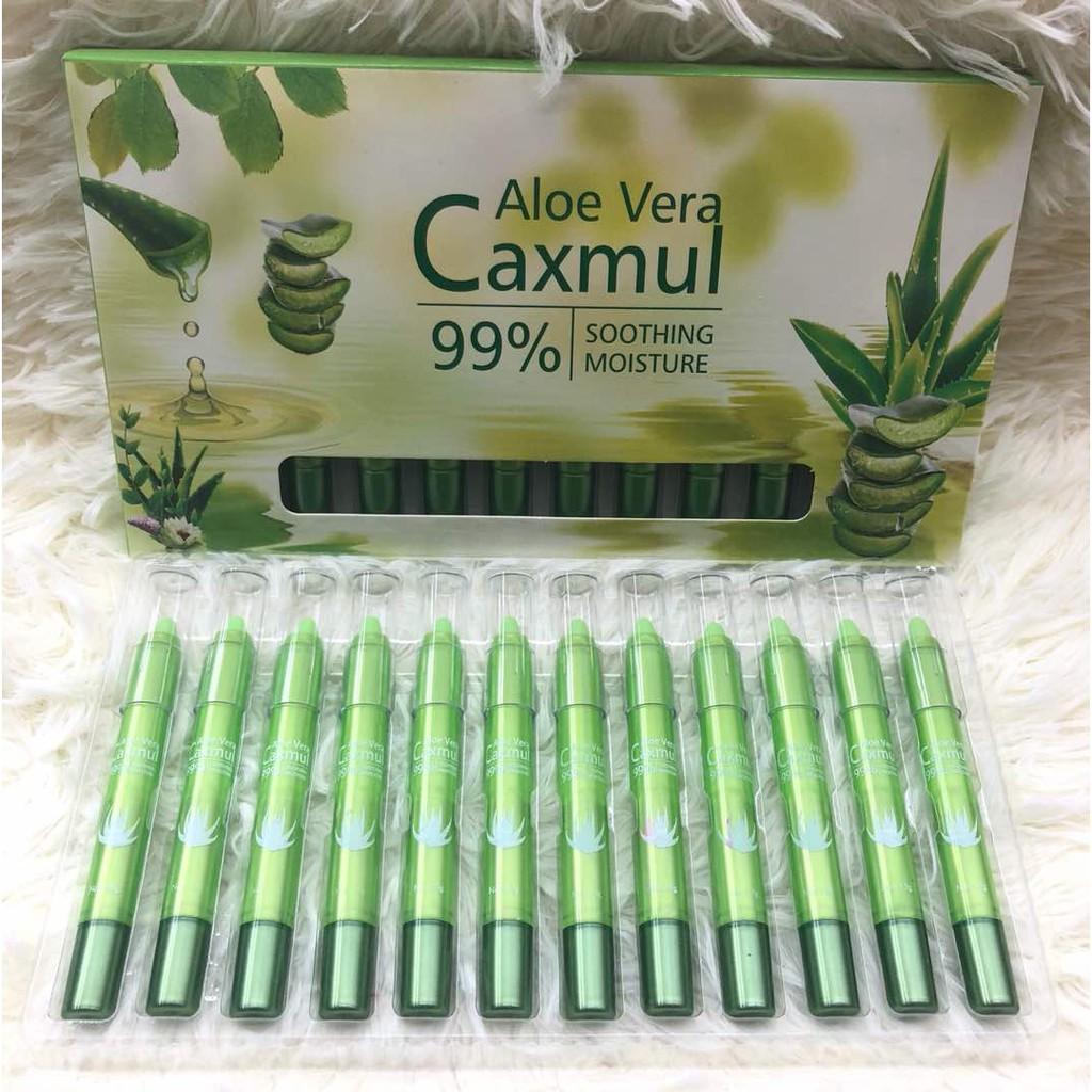 Natural Aloe Vera Extract Moisture Lip Balm 12 in 1