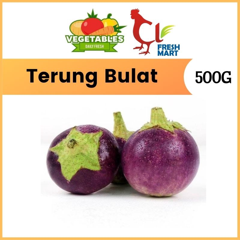 Terung Bulat / Purple Eggplant (500G)