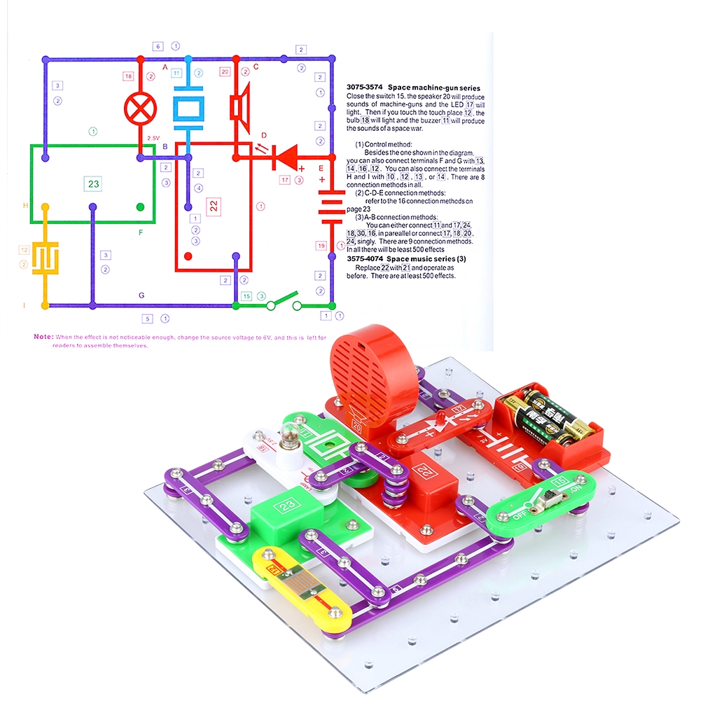 Us Imported Snap Circuits Jr Sc 100 Electronics Discovery Kit Game Shopee Malaysia