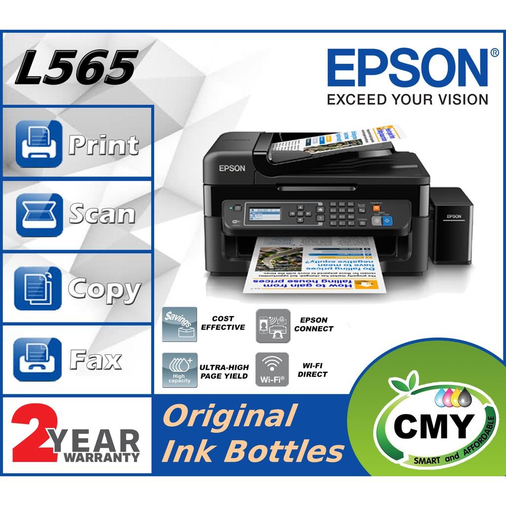 Epson L565 All-In-One Wireless Color Ink Tank Printer