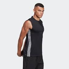 Adidas เสื้อ TR M SleeveLessShirtD2M3S TEE DT3047  BK