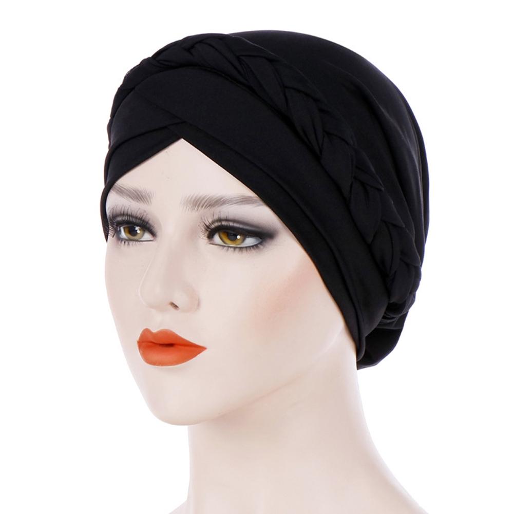 687cae054 Women Casual Cover Muslim Braid Hair Accessories Soft Head Scarf Turban Hat