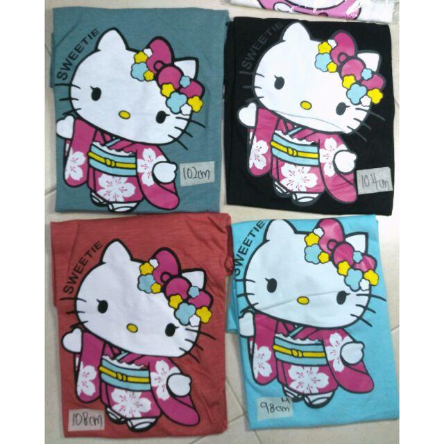 ????  COTTON UNISEX  T-shirt ~ kitty kimono