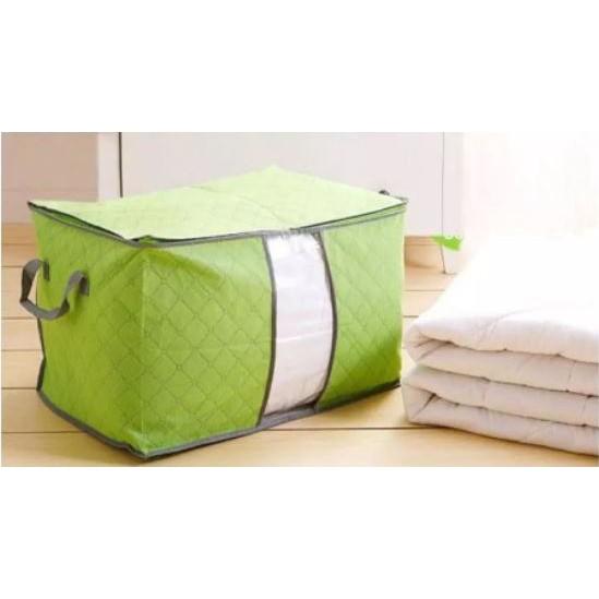 [Ready Stock] 65L Large Storage Bag Box for Clothes Quilt Duvet Laundry Pillows Plus Size 衣物收纳筐折叠存储收纳袋