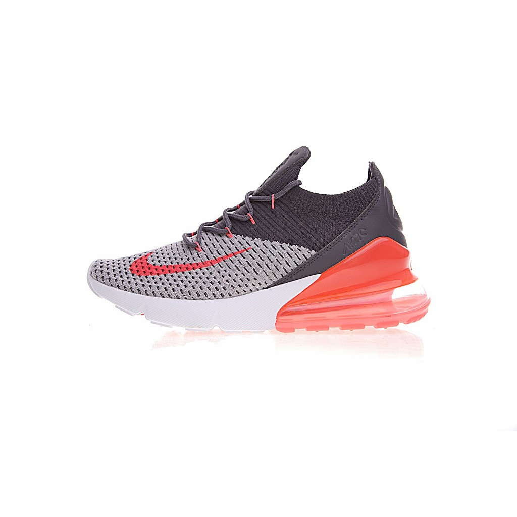 2d7d2eab ProductImage. ProductImage. [Ready Stock] Nike Air Max 27C 270 Flyknit  Running Shoes Gray Orange Red