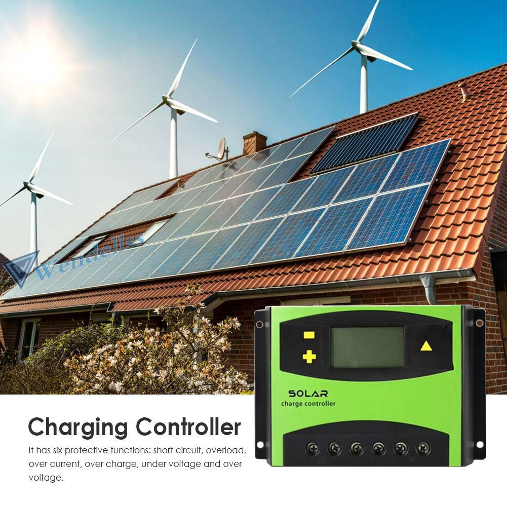 wd♡ 60A LCD Solar Controller 12V24V Battery Solar Charging Controller