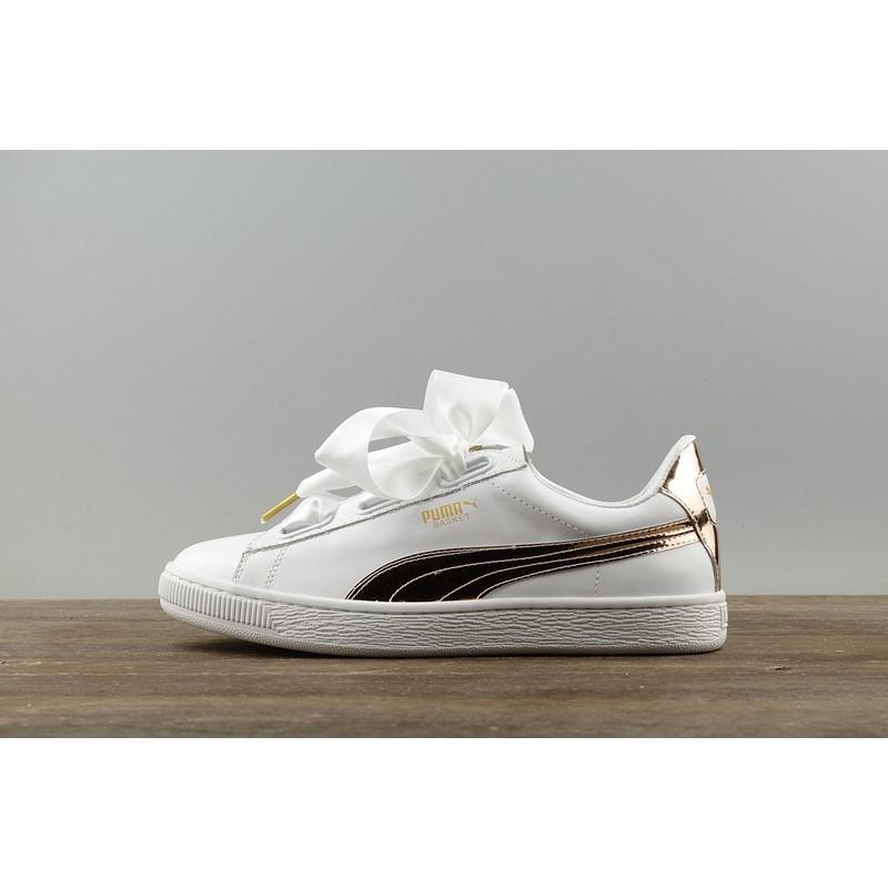 Puma Suede Classic Basket White Laser MenWomen Shoes Puma