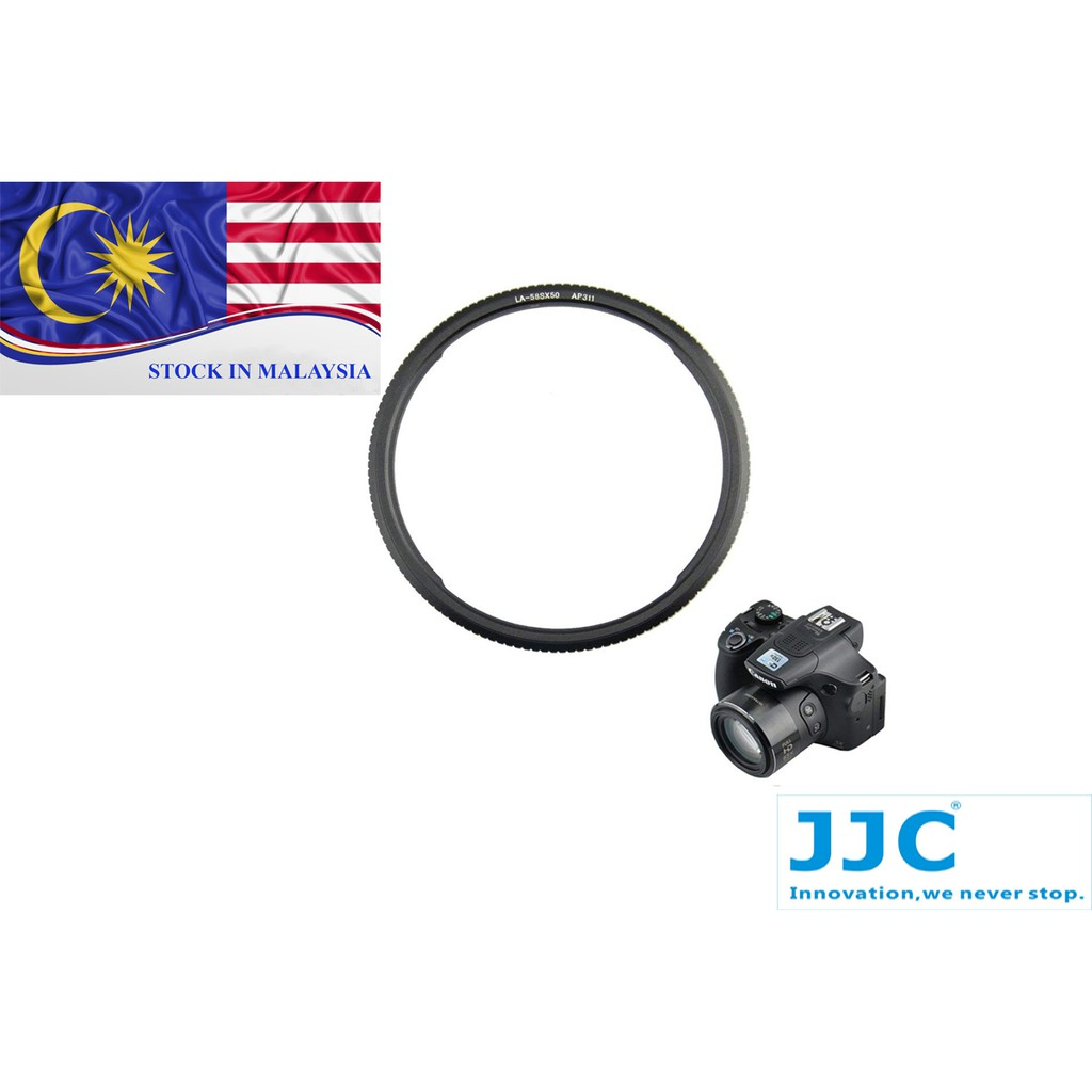 JJC LA-58SX50 Lens Adapter 58mm Threaded for Canon PowerShot SX50 HS (Ready Stock In Malaysia)