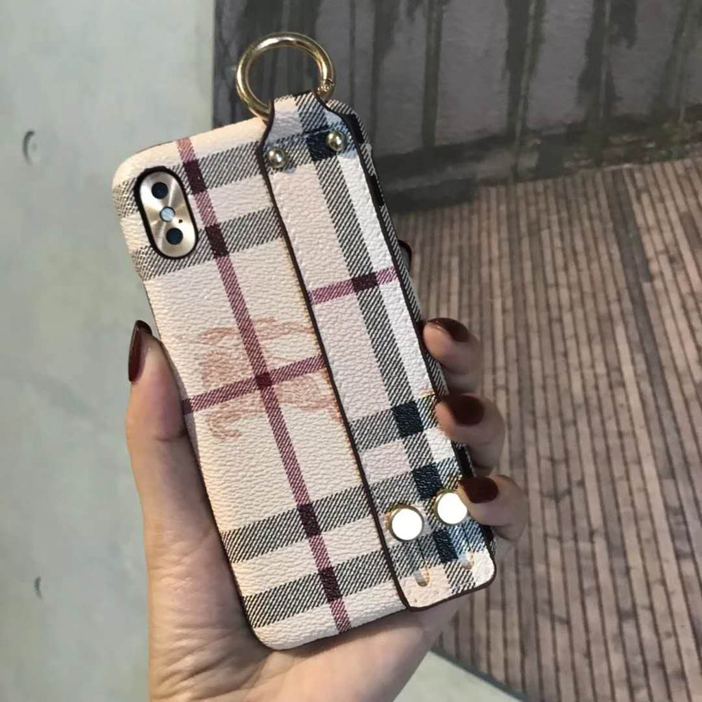 best loved 110b9 4b8b0 Luxury Brand Burberry Strap Phone Case IPhone X XS MAX XR 8 7 6 6s plus  Cover